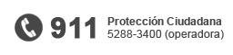 911 - Protección ciudadana: 5288-3400